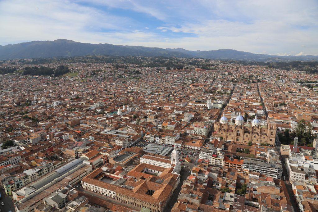 Vista área de Cuenca patrimônio cultural da Humanidade