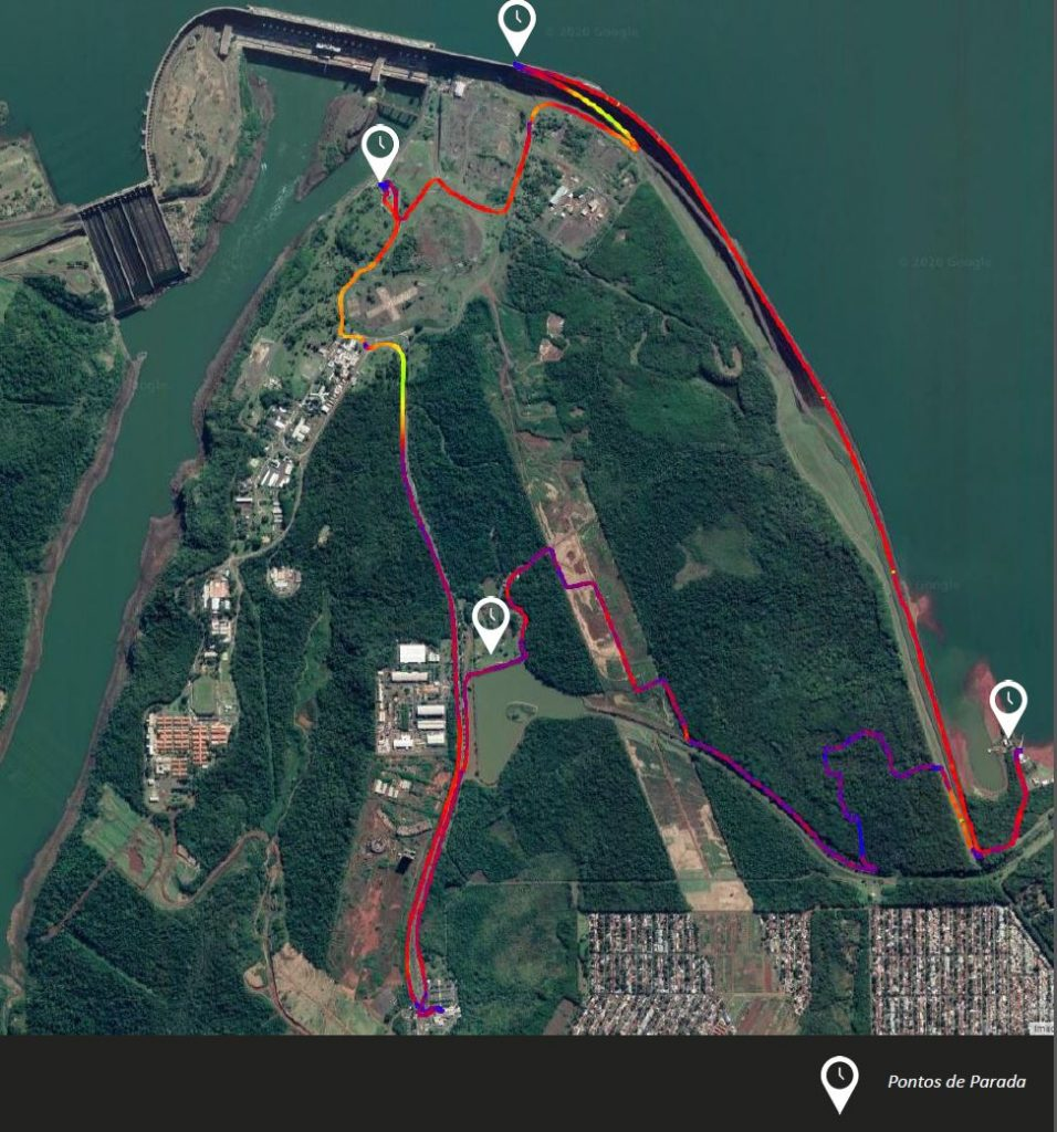 Mapa do passeio