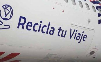 Reciclagem nos aviões da Latam