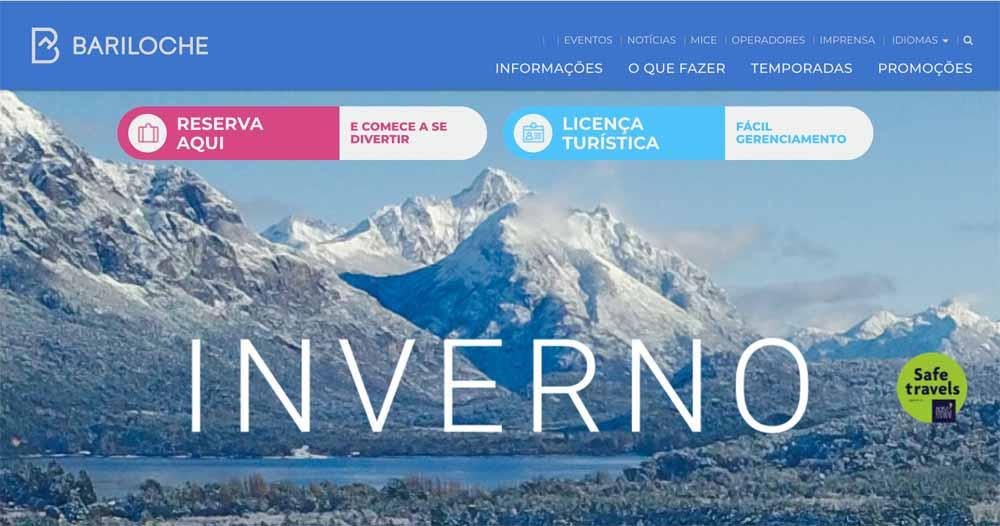 Site Bariloche em português